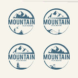 Mountain tourism logos Stock Photography