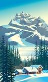Mountain tourist base. Stock Photo