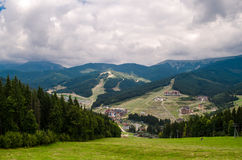 Mountain. A tourist resort in the mountains royalty free stock images