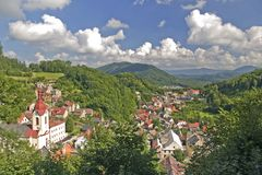 Mountain town Stock Image