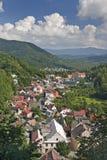 Mountain town Royalty Free Stock Photos