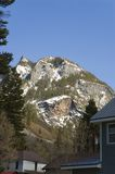 Mountain Town. Part of the Ampitheater formation as seen from Ouray, Colorado in late winter Royalty Free Stock Photos