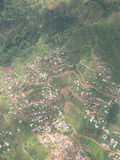 Mountain Town, Andes, Aerial View Royalty Free Stock Photo