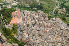 Mountain town Caltabellotta (Sicily, Italy) in the Royalty Free Stock Photo