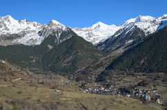 Mountain town in the central Pyrenees Stock Images