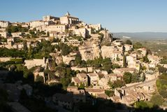 Mountain town of Gordes Royalty Free Stock Images