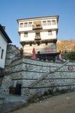 The mountain town of Melnik architecture in Bulgaria Royalty Free Stock Photo