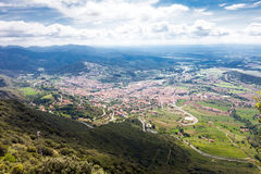 Mountain town in  Pyrenees Stock Photography