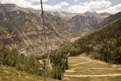 Mountain town view Stock Image