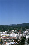 Mountain town view Royalty Free Stock Photography