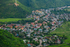 Mountain township in Northern Vietnam Royalty Free Stock Photos