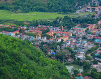 Mountain township in Northern Vietnam Royalty Free Stock Photography
