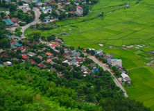 Mountain township in Northern Vietnam Stock Image