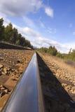 Mountain track. Mountain railway tracks running through Banff stock photos