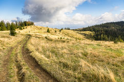 Mountain track Stock Photography