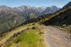 Mountain track in Kaikoura Ranges Stock Images