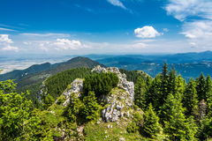 Mountain track in Romania Stock Photo
