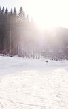 Mountain track for skiers Royalty Free Stock Image