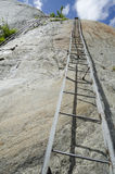 Mountain track on the steep cliff Stock Image