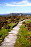 Mountain Trail. Trail hiking path high in the mountains Stock Image
