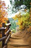 Mountain Trail. Manitou Springs, Colorado USA. Fall in Colorado Stock Photos