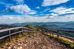 Mountain trail Stock Images