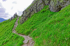 Mountain trail. In the Europe Stock Images
