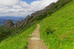 Mountain trail. In the Europe Royalty Free Stock Image