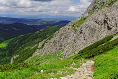 Mountain trail. In the Europe Royalty Free Stock Photos