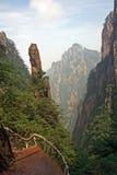 Mountain trail, Huang Shan Mountains, China Royalty Free Stock Image