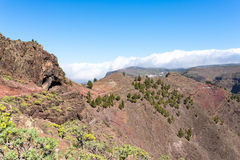 On the mountain trail on the island La Gomera Stock Photo
