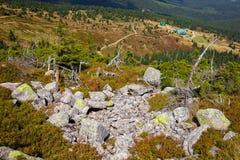 Mountain trail in Karkonosze stock image