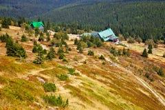 Mountain trail in Karkonosze stock photo