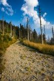 Mountain trail - Lysa hora Stock Image