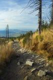 Mountain trail - Lysa hora Royalty Free Stock Photography