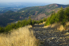 Mountain trail - Lysa hora Stock Image