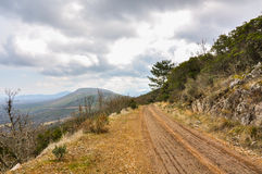Mountain trail in a Mediterranean forest Royalty Free Stock Photo