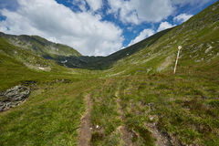Mountain trail near the river Stock Image