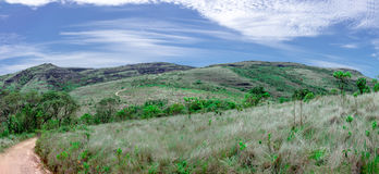 Mountain trail panorama view in Ibitipoca Park Royalty Free Stock Image