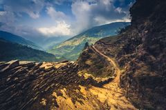 Mountain trail Royalty Free Stock Images