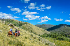 Mountain Trail Ride - Medicine Bow National Forest - Wyoming Stock Image