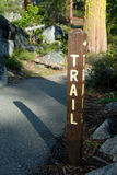 Mountain Trail Sign Royalty Free Stock Photo