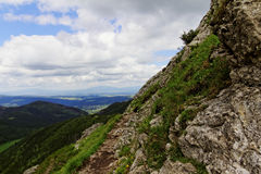 Mountain trail. In Tatras in Poland Stock Photography