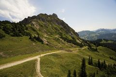 Tyrolean Alps. Mountain trail in the Tyrolean Alps Royalty Free Stock Photography