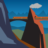 Mountain train adventure background Royalty Free Stock Images