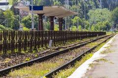 Mountain train station Stock Image