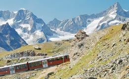 Mountain train Royalty Free Stock Image