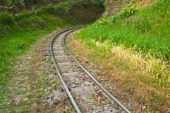 Mountain train tracks Stock Photos