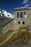 Mountain tramway depot. Building of mountain tramway beside Grossglockner Royalty Free Stock Photo