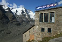 Mountain tramway station. Building of mountain tramway beside Grossglockner Royalty Free Stock Photography